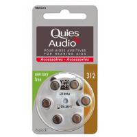 QUIES Piles auditives Modèle 312 Batteries pour aides auditives