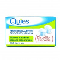 QUIES Protection auditive 20dB Silicone Anti-bruit Discrétion 3 Paires