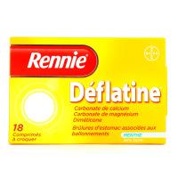 Rennie déflatine 18 comprimés