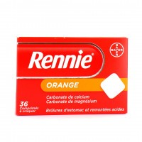 Rennie orange 36 comprimés