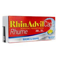 Rhinadvil Caps Rhume & Grippe 16 capsules