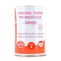 Saforelle Florgynal Tampon Probiotique Mini avec Applicateur Compact x9