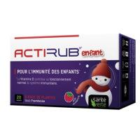 ActiRub enfant immunité goût framboise ou pomme 20 sachets