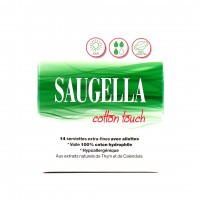 Saugella Cotton Touch Jour Serviettes Extra-Fines x14