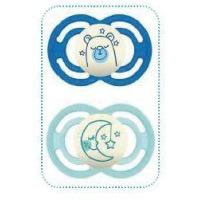 Sucettes en silicone Perfect Nuit bébé de plus de 6 mois et plus lot de 2