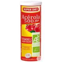Super diet - Acérola 500 bio tube - 12 comprimés à Croquer