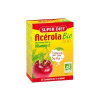 Super Diet - acérola vitamine C 500 bio - 24 comprimés