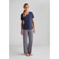 T-Shirt Bleu foncé / blanc AMOENA Home 44296