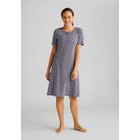 T-Shirt Nightdress Bleu foncé / blanc AMOENA Home 44293