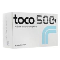 Toco 500 mg 30 capsules