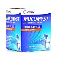 UPSA - Mucomyst 200mg - 18 sachets