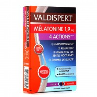 Valdispert Mélatonine 1, 9 mg  4 actions  30 capsules
