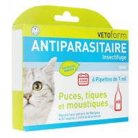 Vetoform Pipettes Antiparasitaires Chat