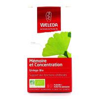 Weleda Extrait de Plante Ginkgo Bio 60 ml Mémoire et Concentration
