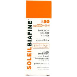 Soleilbiafine Emulsion solaire visage SPF50