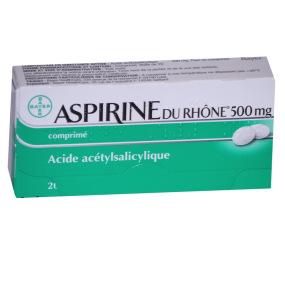 Aspirine du Rhone 500mg 20 comprimés