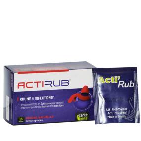 Santé Verte Actirub Rhume et infections en sachets