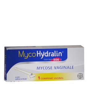 MycoHydralin 500mg Mycose Vaginale 1 Comprimé
