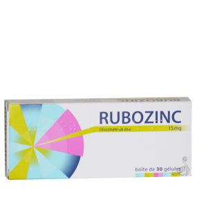 Rubozinc 15 mg Gélules