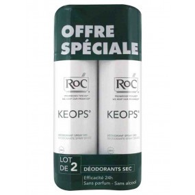 Keops déodorant spray sec lot de 2