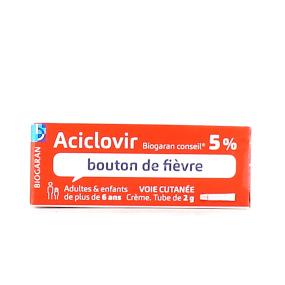 Aciclovir Biogaran 5% crème tube 2g