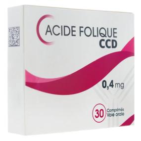 Acide folique CCD 0.4 mg 30 comprimés