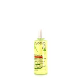 Aderma Exomega Control Gel Lavant Émollient 2-en-1 Corps et Cheveux Bébé