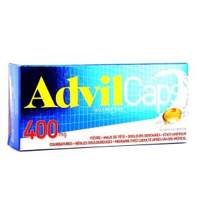 AdvilCaps ibuprofène 200mg ou 400mg capsules