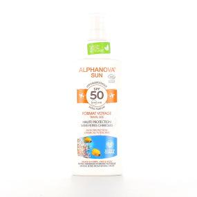 Alphanova Spray solaire bio waterproof indice de protection 50