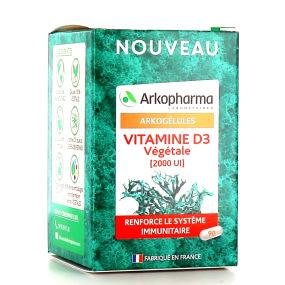 Arkogélules Vitamine D3 végétale 2000 UI