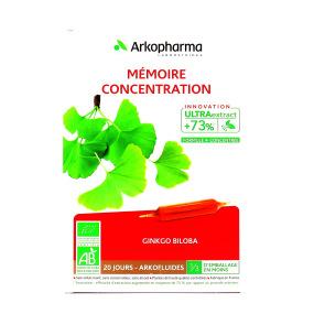 Arkopharma Arkofluides Ginkgo Mémoire Concentration