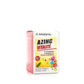 Arkopharma - Azinc forme et vitalité - 120 gélules