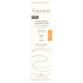 Avène - Couvrance fond de teint correcteur fluide nf beige 2.5 tube 30ml