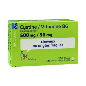 Cystine Vitamine B6  Biogaran 120 comprimés