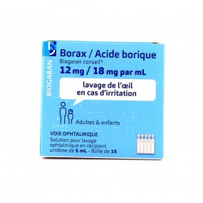 Borax / Acide Borique Biogaran - 12mg/18mg par ml