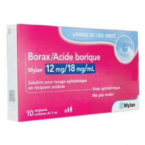 Borax / Acide Borique Solution pour Lavage Ophtalmique unidose