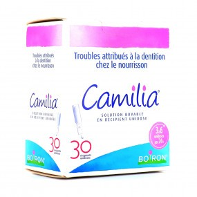 Camilia troubles de la dentition nourrisson Boiron