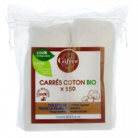Carrés de Coton Bio 9x9cm