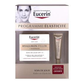 Coffret Eucerin Programme élasticité soin de jour 50 ml + mini huile soin visage 15 ml offerte