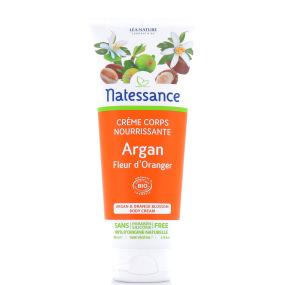 Crème corps nourrissante Bio argan et fleur d'oranger en 200 ml