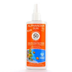 Alphanova Crème solaire bio en spray pour enfant indice 50