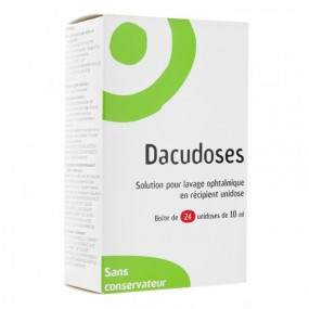Dacudoses solution pour lavage oculaire 24 unidoses