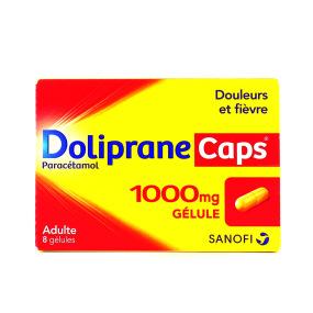 Doliprane Caps 1000 mg 8 gélules