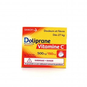 Doliprane paracétamol vitamine C 500 mg/ 150 mg