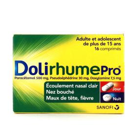Dolirhume Pro paracétamol 16 comprimés jour nuit