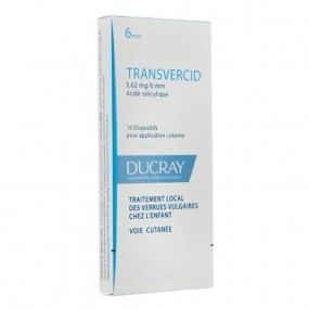 Ducray Transvercid verrues enfant 10 pansements
