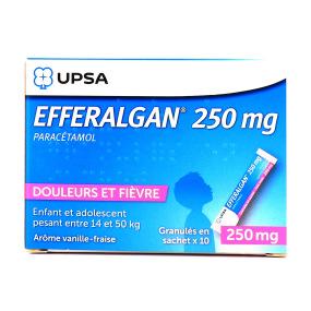 Efferalgan Granulés 250mg ou 500mg Vanille Fraise