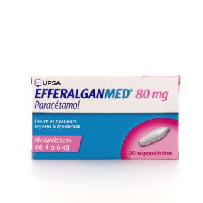 EfferalganMed 80 mg 10 suppositoires