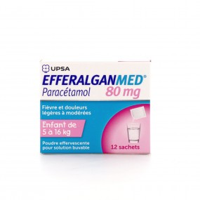 EfferalganMed pédiatrique 80 mg poudre effervescent 12 sachets