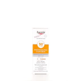 Eucerin Sun Phototaging Control CC Crème Médium SPF 50+ flacon-pompe de 50 ml
